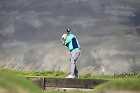 Caolan Rafferty from Ireland on the 4th tee during Round 2 Singles of the Men's Home Internationals 2018 at Conwy Golf Club, Conwy, Wales on Thursday 13th September 2018.<br /> Picture: Thos Caffrey / Golffile<br /> <br /> All photo usage must carry mandatory copyright credit (&copy; Golffile | Thos Caffrey)