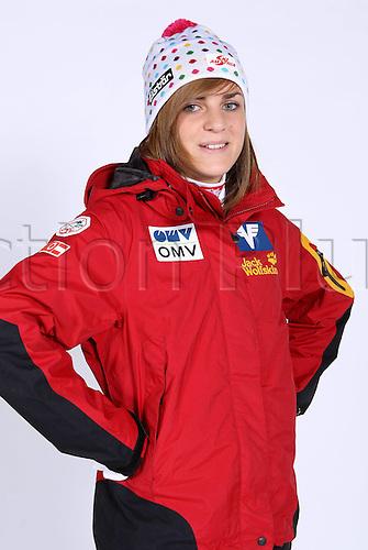 16.10.2010  Winter sports OSV Einkleidung Innsbruck Austria. Ski Nordic Ski jumping OSV Austrian Ski Federation. Picture shows Cornelia Roider AUT