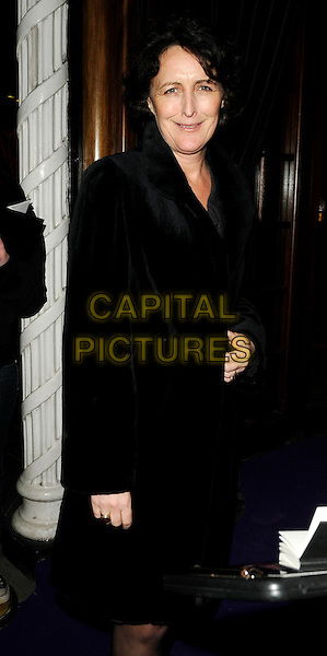 FIONA SHAW .The Bafta Film Awards Nominees Party, Asprey, Bond Street, London, England, February 7th 2009..half length black coat velvet .CAP/CAN.©Can Nguyen/Capital Pictures