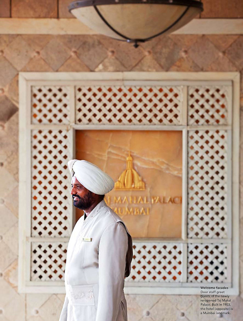 Mumbai India September 2010. Gourmet Traveller special on Mumbai and the re-opening of the Taj Mahal Palace and Tower.
