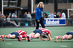 AMSTELVEEN - Coach Sonja Thomann (HDM) .Hoofdklasse competitie dames, Hurley-HDM (2-0)FOTO KOEN SUYK