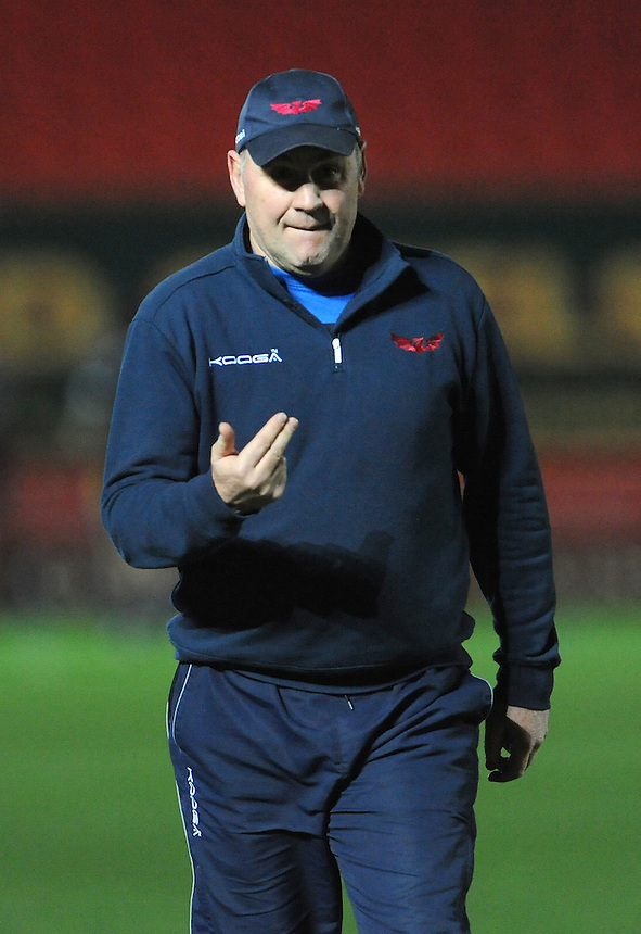 Scarlets' Head Coach Wayne Pivac during the pre match warm up<br /> <br /> Photographer Ian Cook/CameraSport<br /> <br /> Guinness PRO12 Round 15 - Scarlets v Zebre - Friday 17th February 2017 - Parc y Scarlets - Llanelli, Wales<br /> <br /> World Copyright &copy; 2017 CameraSport. All rights reserved. 43 Linden Ave. Countesthorpe. Leicester. England. LE8 5PG - Tel: +44 (0) 116 277 4147 - admin@camerasport.com - www.camerasport.com