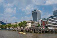 Great Britain, England, London. Port on the Thames River.
