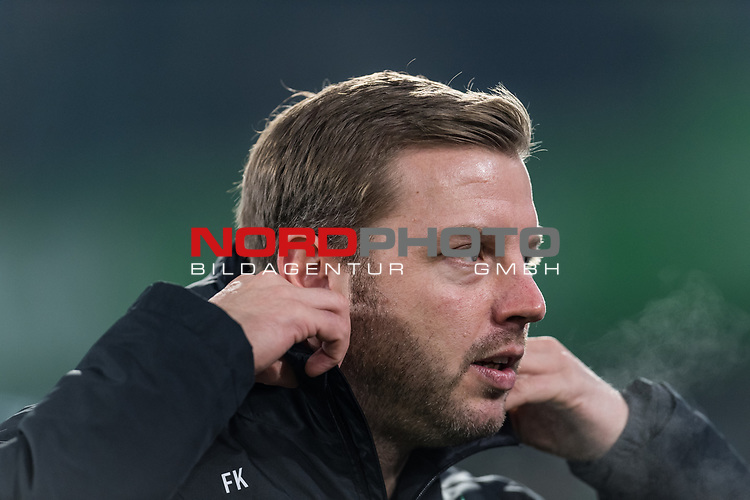 01.12.2019, Volkswagen Arena, Wolfsburg, GER, 1.FBL, VfL Wolfsburg vs SV Werder Bremen<br /> <br /> DFL REGULATIONS PROHIBIT ANY USE OF PHOTOGRAPHS AS IMAGE SEQUENCES AND/OR QUASI-VIDEO.<br /> <br /> im Bild / picture shows<br /> Florian Kohfeldt (Trainer SV Werder Bremen), <br /> <br /> Foto © nordphoto / Ewert