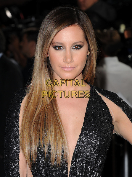 Ashley Tisdale.at The Dimension Films Premiere of 'Scary Movie 5' held at The Cinerama Dome in Hollywood, California, USA, April 11th 2013.                                                               .portrait headshot black sequined sequin low cut make-up smokey eyes eyeliner beauty ombre hair dyed .CAP/DVS.©Debbie VanStory/Capital Pictures