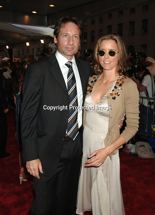 "David Duchovny and wife Tea Leoni..at The New York Premiere of ""Trust The Man"" directed..by Bart Freundlich and starring Julianne Moore, David ..Duchovny, Billy Crudup, Eva Mendes and Maggie Gyllenhaal on August 7, 2006 at The Chelsea West Cinemas...Robin Platzer, Twin Images"