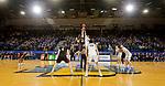 BROOKINGS, SD - FEBRUARY 8: Matt Pile #40 of the Nebraska-Omaha Mavericks and Douglas Wilson #35 of the South Dakota State Jackrabbits jump the opening tip at Frost Arena February 8, 2020 in Brookings, South Dakota. (Photo by Dave Eggen/Inertia)