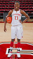 STANFORD, CA - February 26, 2011:  Chiney Ogwumike before Stanford's 99-60 victory over Oregon at Stanford, California on February 26, 2011.