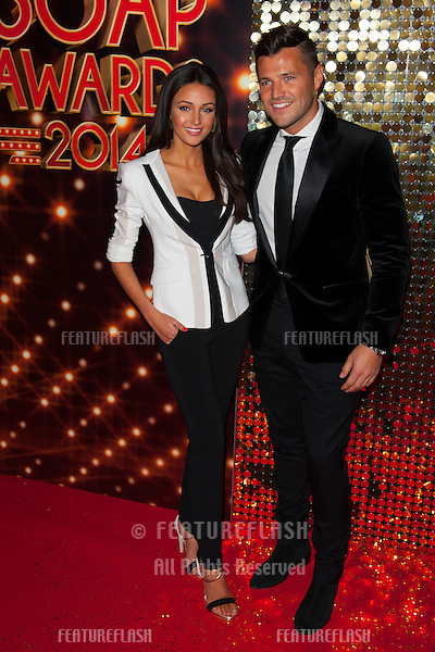 Michelle Keegan and Mark Wright arriving for the 2014 British Soap Awards, at the Hackney Empire, London. 24/05/2014 Picture by: Dave Norton / Featureflash