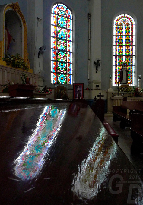 ADAMSON UNI, A Manila Church light streaming through the windows, near Adamson University