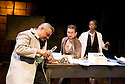 Little Eagles by Rona Munro. A Royal Shakespeare Company Production directed by Roxana Silbert. With Darrell D'Silva as Korolyov, Greg Hicks as Old Man, Noma Dumezweni as Doctor. Opens at The Hampstead  Theatre on 21/4/11 CREDIT Geraint Lewis