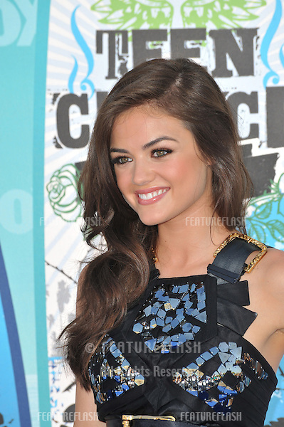 Lucy Hale at the 2010 Teen Choice Awards at the Gibson Amphitheatre, Universal Studios, Hollywood..August 8, 2010  Los Angeles, CA.Picture: Paul Smith / Featureflash