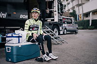 Toms SKUJIŅ&Scaron; (LVA/Trek-Segafredo) getting ready for a training ride<br /> <br /> Team Trek-Segafredo men's team<br /> training camp<br /> Mallorca, january 2019<br /> <br /> &copy;kramon