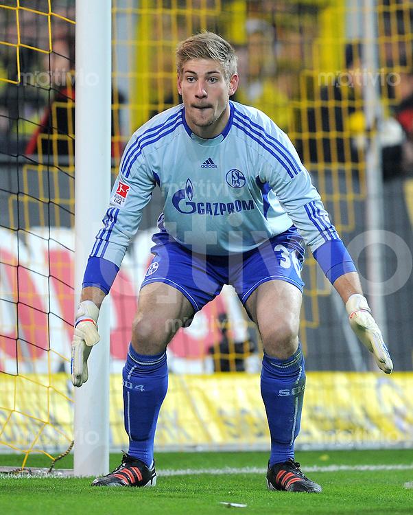 FUSSBALL   1. BUNDESLIGA  SAISON 2011/2012   14. Spieltag   26.11.2011 137. Derby Borussia Dortmund - FC Schalke 04                  Lars Unnerstall (FC Schalke 04)