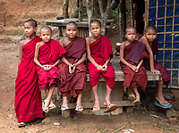 A small Buddhist Monastery in Mrauk-U, Rakhine State, Myanmar