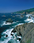 Pacific Ocean surf, Brookings, Oregon, USA. John offers private photo tours in Washington and throughout Colorado. Year-round.