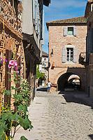 Europe/France/Midi-Pyrénées/82/Tarn-et-Garonne/Auvillar: Rue Saint-Pierre- Ruelle, bordée de vieilles maisons du XVe au XVIIIe siècle