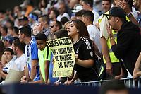 AFICION DURANTE EL PARTIDO ENTRE EL MALAGA CLUB DE FUTBOL Y EL REAL MADRID CORRESPONDIENTE A LA JORNADA NUMERO 39 DE LA TEMPORADA 2016/17 DE LA LIGA SANTANDER DE PRIMERA DIVISON EN ESPA&Ntilde;A, DISPUTADA EN EL ESTADIO DE LA ROSALEDA DE MALAGA, ANDALUCIA, ESPA&Ntilde;A <br /> (FOTO: ANTONIO L JU&Aacute;REZ)