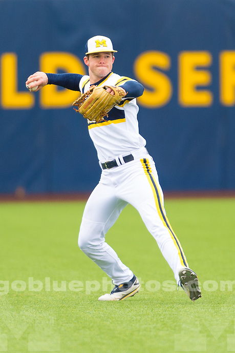 The University of Michigan baseball team; 8-1 loss to Minnesota at the Wilpon Baseball Complex in Ann Arbor, Mich. on April 08, 2016.