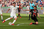 17.03.2019, BayArena, Leverkusen, GER, 1. FBL, Bayer 04 Leverkusen vs. SV Werder Bremen,<br />  <br /> DFL regulations prohibit any use of photographs as image sequences and/or quasi-video<br /> <br /> im Bild / picture shows: <br /> Schuss auf´s Tor Max Kruse (Werder Bremen #10), gegen Aleksandar Dragovic (Leverkusen #6), <br /> <br /> Foto © nordphoto / Meuter