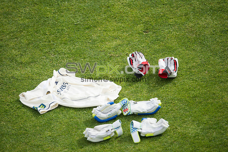 Picture by Allan McKenzie/SWpix.com - 26/04/2015 - Cricket - LV County Championship Div One - Yorkshire County Cricket Club v Warwickshire County Cricket Club - Headingley Cricket Ground, Leeds, England - Shirts, gloves.
