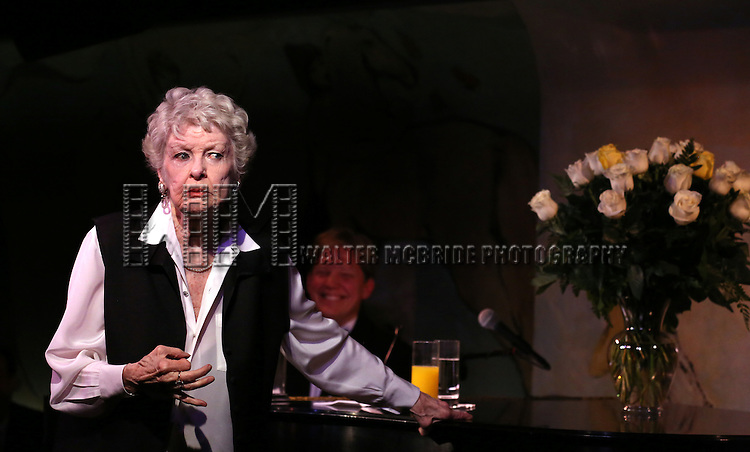 Elaine Stritch with Rob Bowman at the Piano performing 'Movin' Over And Out' her final engagement ever at the Cafe Carlyle in New York City on 4/2/2013