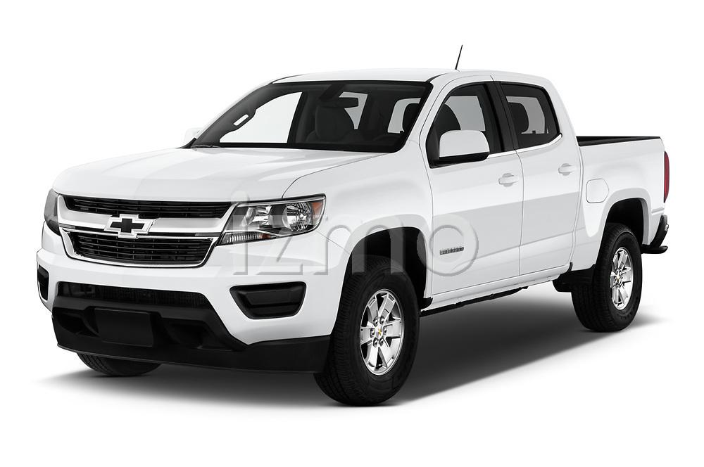 2019 Chevrolet Colorado WT 4 Door Pick-up Angular Front automotive stock photos of front three quarter view