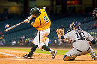 Max Muncy #9 of the Baylor Bears connects for a walk-off grand slam home run in the bottom of the 10th inning to defeat the Rice Owls 12-8 at Minute Maid Park on March 6, 2011 in Houston, Texas.  Photo by Brian Westerholt / Four Seam Images