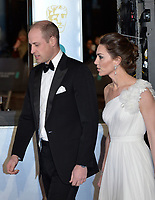 LONDON, UK - FEBRUARY 10: Prince William Duke of Cambridge, Catherine Duchess of Cambridge at the 72nd British Academy Film Awards held at Albert Hall on February 10, 2019 in London, United Kingdom. <br /> CAP/MPIIS<br /> ©MPIIS/Capital Pictures