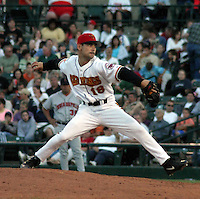 February 3, 2003:  Micheal Nakamura of the Red Wings, Class-AAA affiliate of the Minnesota Twins, during a International League game at Frontier Field in Rochester, NY.  Photo by:  Mike Janes/Four Seam Images