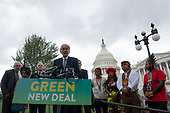 United States Senator Ed Markey (Democrat of Massachusetts) was joined by several Democratic Senators and youth climate activists during a press conference on climate change outside the U.S. Capitol in Washington D.C., U.S. on September 17, 2019.<br /> <br /> Credit: Stefani Reynolds / CNP