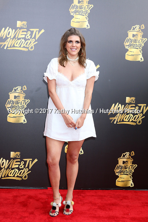 LOS ANGELES - MAY 7:  Molly Tarlov at the MTV Movie and Television Awards on the Shrine Auditorium on May 7, 2017 in Los Angeles, CA