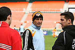 16 November 2007: Head coach Dominic Kinnear. The Houston Dynamo practiced at the RFK Stadium Auxiliary Field in Washington, DC two days before playing in MLS Cup 2007, Major League Soccer's championship game.