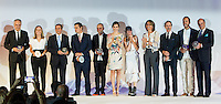 Spanish queen Letizia and the winners of the national award during delivery spanish fashion national awards 2016 in the Museum of Costume in Madrid. July 21, 2016. (ALTERPHOTOS/Rodrigo Jimenez) /NORTEPHOTO.COM