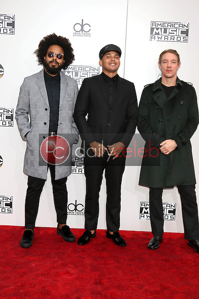 Jillionaire, Walshy Fire and Diplo, Major Lazer<br /> at the 2016 American Music Awards, Microsoft Theater, Los Angeles, CA 11-20-16<br /> David Edwards/DailyCeleb.com 818-249-4998