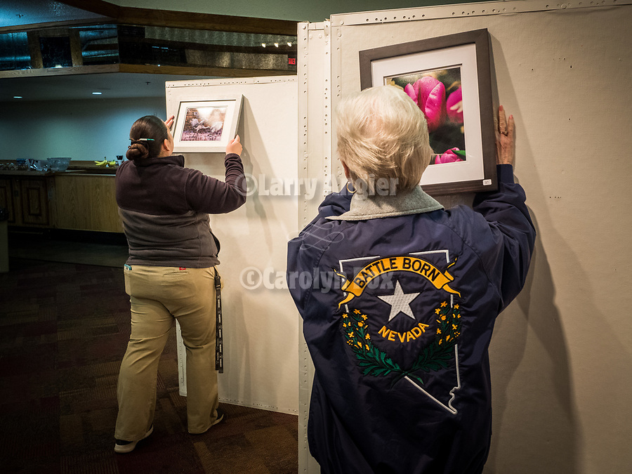 Give It Your Best Shot exhibit with Marilyn Newton and Sylvia at STW XXXI, Winnemucca, Nevada, April 11, 2019.<br /> .<br /> .<br /> .<br /> .<br /> @shootingthewest, @winnemuccanevada, #ShootingTheWest, @winnemuccaconventioncenter, #WinnemuccaNevada, #STWXXXI, #NevadaPhotographyExperience, #WCVA