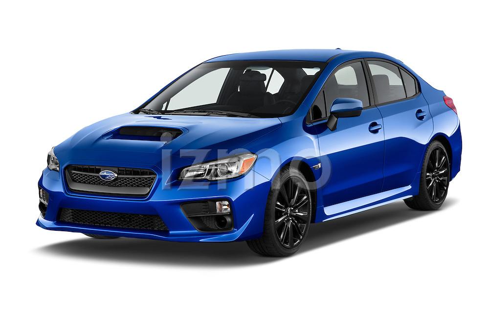 2015 Subaru Wrx - 4 Door Sedan 2WD Angular Front stock photos of front three quarter view