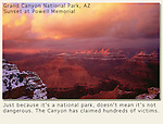 Sunset, winter, Grand Canyon, Arizona. John leads private, photo tours throughout Colorado, including Denver and Boulder.