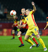 20171020 - LEUVEN , BELGIUM : Romanian Laura Rus pictured during the female soccer game between the Belgian Red Flames and Romania , the second game in the qualificaton for the World Championship qualification round in group 6 for France 2019, Friday 20 th October 2017 at OHL Stadion Den Dreef in Leuven , Belgium. PHOTO SPORTPIX.BE | DAVID CATRY