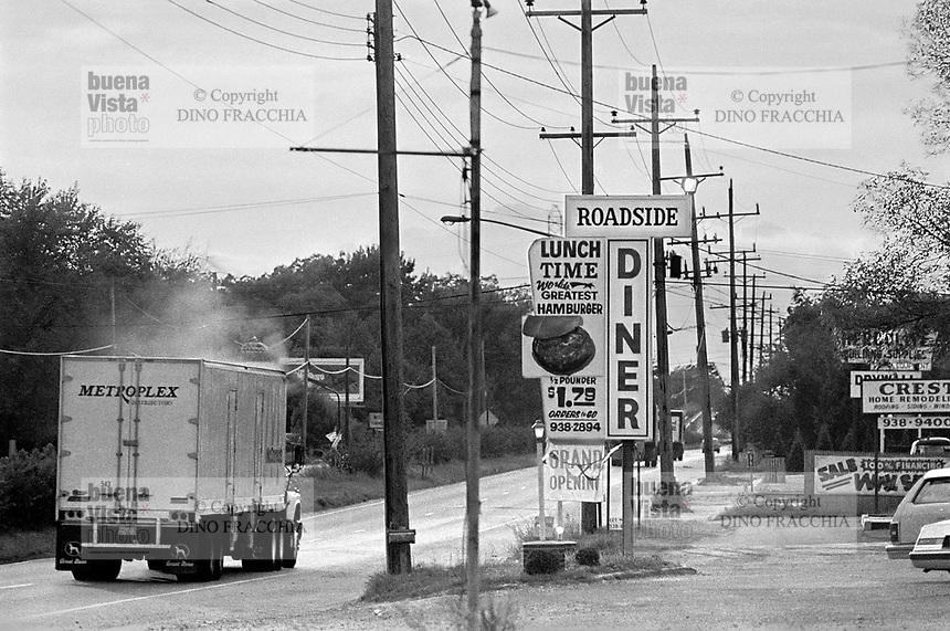 - advertising of a fast food restaurant on a state road....- insegna di un ristorante fast-food su una strada statale....