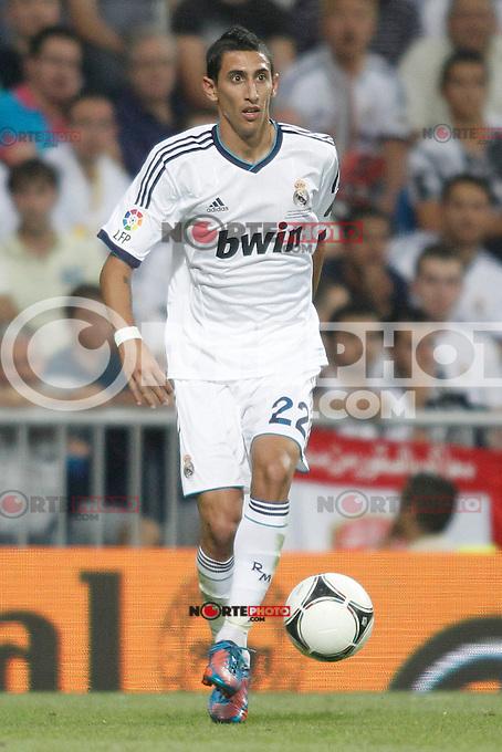 Real Madrid's  Di Maria during Super Copa of Spain on Agost 29th 2012...Photo:  (ALTERPHOTOS/Ricky) Super Cup match. August 29, 2012. <br />  (foto:ALTERPHOTOS/NortePhoto.com<br /> <br /> **CREDITO*OBLIGATORIO** <br /> *No*Venta*A*Terceros*<br /> *No*Sale*So*third*<br /> *** No*Se*Permite*Hacer*Archivo**<br /> *No*Sale*So*third*