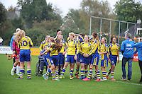 VOETBAL: JOURE: 22-10-2016, Jeugdvoetbal, meisjesteams, ©foto Martin de Jong