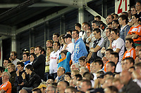 Pictured: Disappointed Swansea supporters. Tuesday 23 August 2011<br />