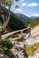 Otira Viaduct near Arthur's Pass, Arthur's Pass National Park, West Coast, New Zealand