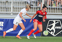 Boyds, MD - Saturday July 02, 2016: Katie Bowen, Cali Farquharson during a regular season National Women's Soccer League (NWSL) match between the Washington Spirit and FC Kansas City at Maureen Hendricks Field, Maryland SoccerPlex.