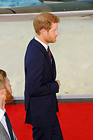 LONDON, ENGLAND - JULY 13: Prince Harry attending the World Premiere of 'Dunkirk' at Odeon Cinema, Leicester Square on July 13, 2017 in London, England.<br /> CAP/MAR<br /> &copy;MAR/Capital Pictures /MediaPunch ***NORTH AND SOUTH AMERICAS ONLY***