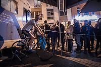 Kevin Pauwels (BEL/Marlux-NapoleonGames) warming up for the big event<br /> <br /> Elite Men's race<br /> Superprestige Diegem 2016