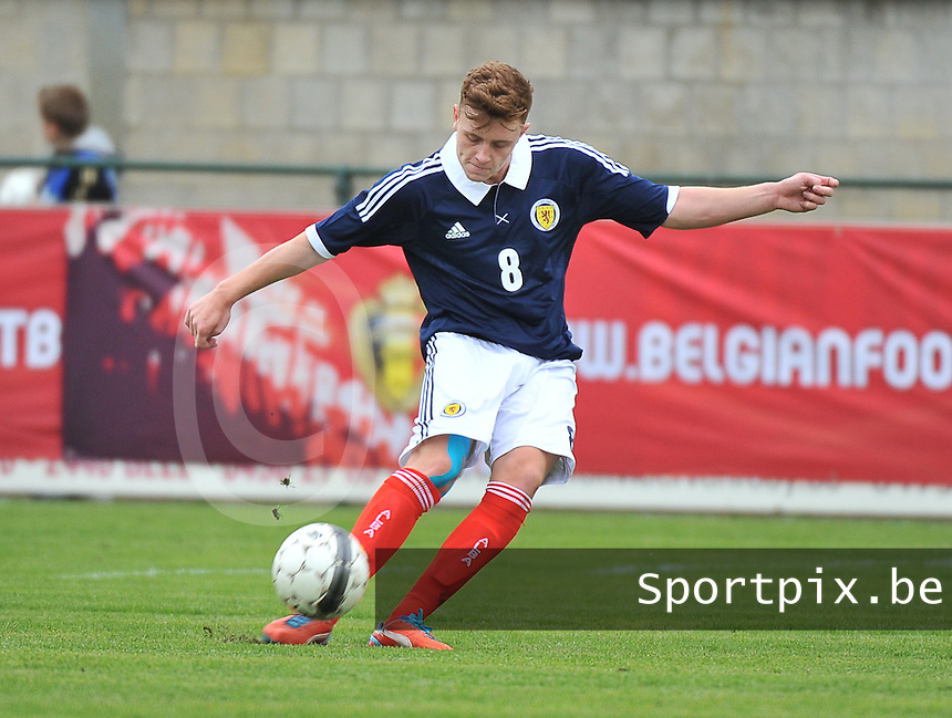 Scotland U19 - Georgia U19 : Lewis McLeod.foto DAVID CATRY / Nikonpro.be