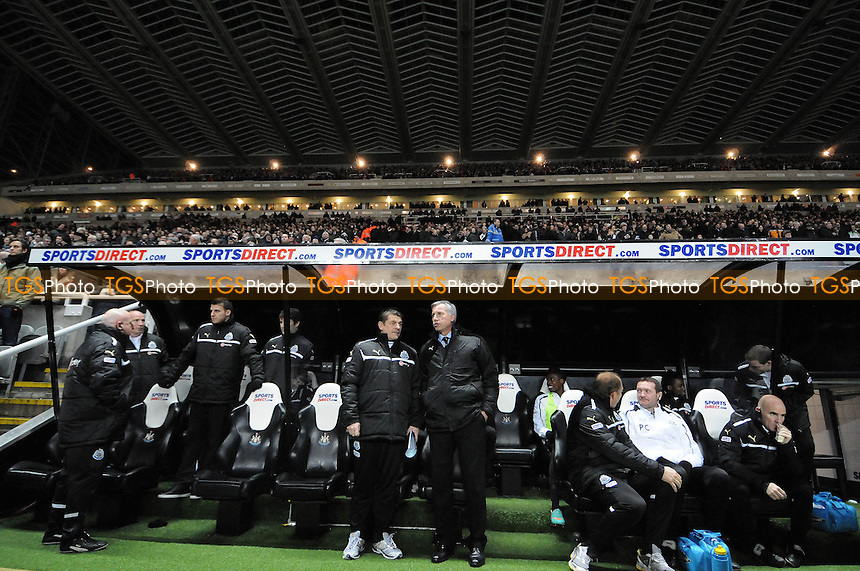 Newcastle United manager Alan Pardew with assistant John Carver  - Newcastle United vs Wigan Athletic - Barclays Premier League Football at St James Park, Newcastle, Tyne & Wear - 03/12/12 - MANDATORY CREDIT: Steven White/TGSPHOTO - Self billing applies where appropriate - 0845 094 6026 - contact@tgsphoto.co.uk - NO UNPAID USE.