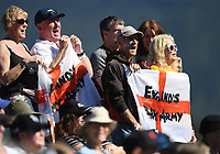 England's barmy army fans and supporters.<br /> New Zealand Black Caps v England, ODI series, University Oval in Dunedin, New Zealand. Wednesday 7 March 2018. &copy; Copyright Photo: Andrew Cornaga / www.Photosport.nz